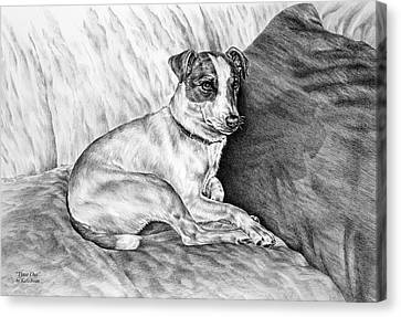 Time Out - Jack Russell Dog Print Canvas Print by Kelli Swan