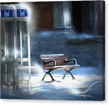 Time Passages - Call Waiting Canvas Print by Bob Salo