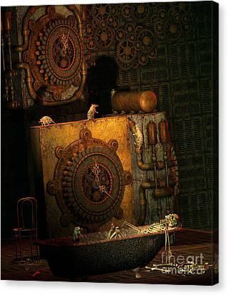 Time Passes Canvas Print by Jutta Maria Pusl