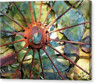Antique Ironwork Canvas Print - Time Passing by Betsy Zimmerli