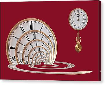 Designs On Face Canvas Print - Time Portal In Red by Gill Billington