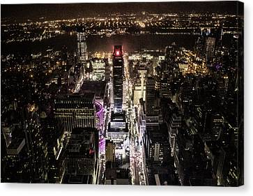 Time Square From Above Canvas Print by Martin Newman