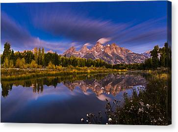 Time Stops Over Tetons Canvas Print by Edgars Erglis