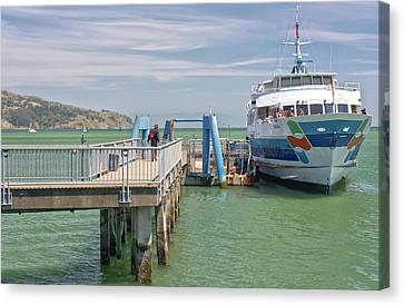 Time To Catch A Ferry To San Francisco. Canvas Print by Gino Rigucci