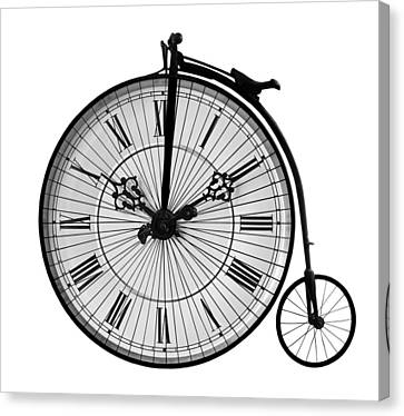 Time To Ride Penny Farthing Canvas Print
