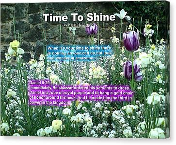 Time To Shine Canvas Print
