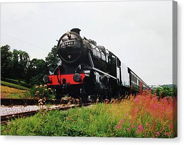 Canvas Print featuring the photograph Time Travel By Steam by Martin Howard