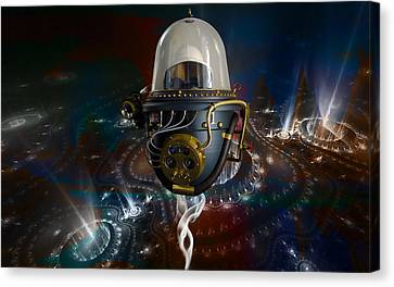 Outer Space Canvas Print - Time Traveler by Marvin Blaine