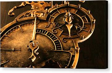 Time Waits For No Man Canvas Print by Susan Wooler