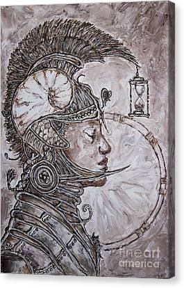 Time Warrior Canvas Print by Kristian Leov