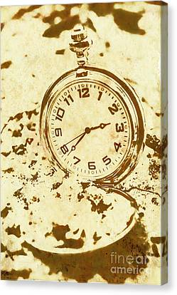Time Worn Vintage Pocket Watch Canvas Print by Jorgo Photography - Wall Art Gallery