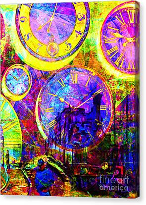 Timeless Art St Lazare Train Station Paris 20160228 Vertical Canvas Print by Wingsdomain Art and Photography