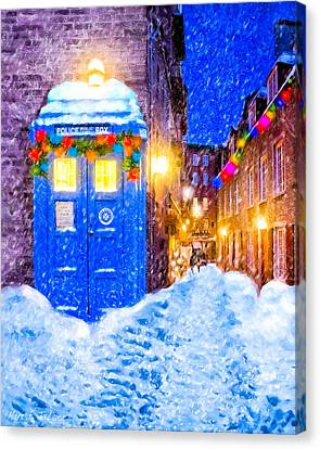 Timeless British Christmas Canvas Print