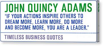 Timeless Business Quotes By John Quincy Adams Canvas Print by Celestial Images
