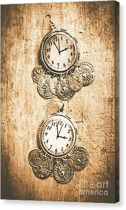 Timepieces From Bygone Fashion Canvas Print