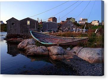 Peggy's Cove, Nova Scotia Canvas Print by Heather Vopni