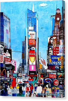 Newyorkcity Canvas Print - Times Sq II Wip by Andy  Mercer
