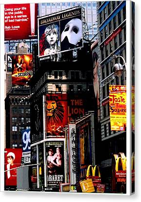 Times Sq Nyc Canvas Print