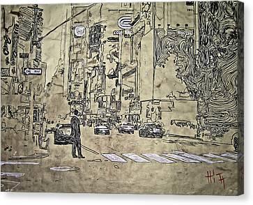 Times Square - That Man Canvas Print by Jacob  Hitt