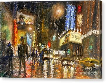 Times Square 2 Canvas Print by Arthur Robins