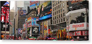 Times Square 4 Canvas Print by Andrew Fare