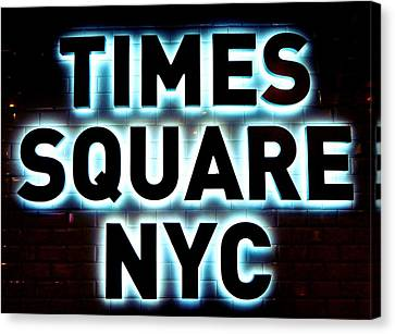 Times Square 4 Canvas Print by NDM Digital Art