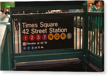 Poster Canvas Print - Times Square 42 St Station by Afterdarkness