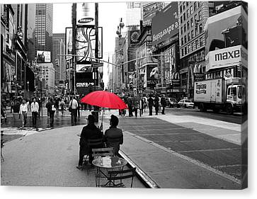 Times Square 5 Canvas Print by Andrew Fare
