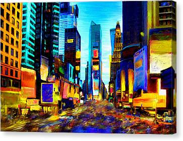 Times Square Canvas Print by Andrea Meyer