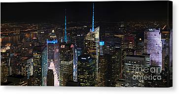 Times Square At Night From The Empire State Building Canvas Print by Mike Reid
