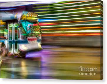 Times Square Bus Canvas Print by Clarence Holmes