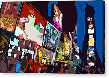 Times Square Canvas Print by Christopher Woods