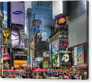 In Focus Canvas Print - Times Square by Joe Paniccia