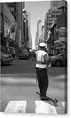 Times Square, New York City  -27854-bw Canvas Print by John Bald