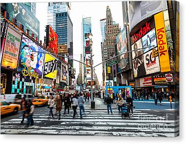 Crosswalk Canvas Print - Times Square, New York City by Voisin/Phanie