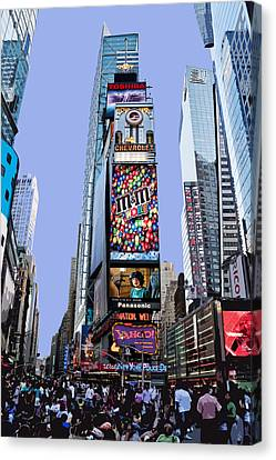 Times Square Nyc Canvas Print by Kelley King