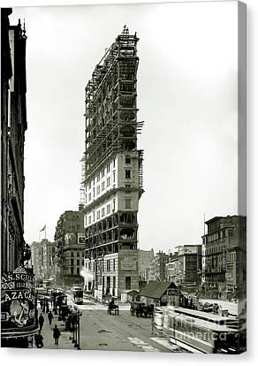 Times Square Under Construction Canvas Print by Jon Neidert