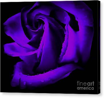 Abstract Rose Abstract Canvas Print - Timeless Romance by Krissy Katsimbras