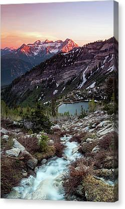 Timp From Silver Lake. Canvas Print by Johnny Adolphson