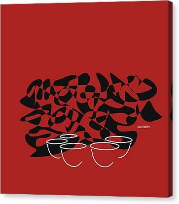 Timpani In Orange Red Canvas Print by David Bridburg