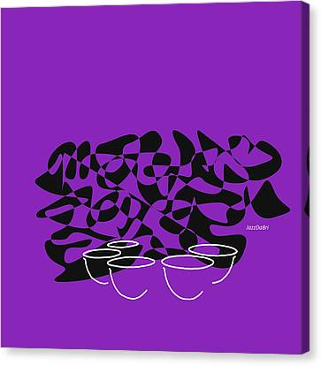 Symphony Hall Canvas Print - Timpani In Purple by David Bridburg