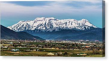 Timpanogos And The Heber Valley 2 Canvas Print by TL Mair