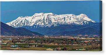 Timpanogos And The Heber Valley Canvas Print by TL Mair