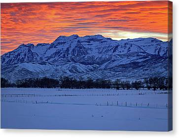 Canvas Print featuring the photograph Timpanogos Burner by Johnny Adolphson