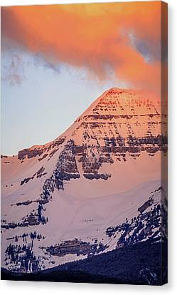 Timpanogos East Ridge Canvas Print by Johnny Adolphson