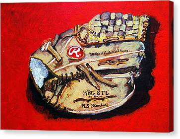 Tim's Glove Canvas Print by Jame Hayes