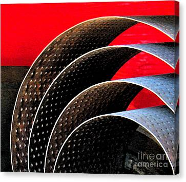 Scales Canvas Print - Tin Abstract by Gary Everson