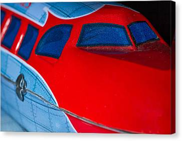 Tin Airplane - 2 Canvas Print by Rudy Umans