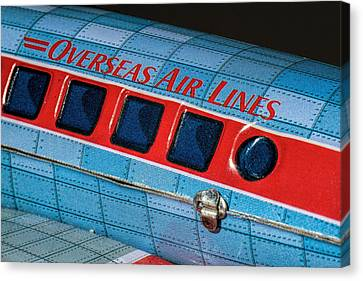 Tin Airplane - 3 Canvas Print by Rudy Umans