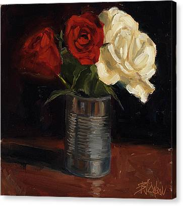 Tin Can Love Canvas Print by Billie Colson
